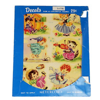 Vintage Decals by Meyercord 935-A Childrens Crafts Decal Stickers Nursery Rhymes