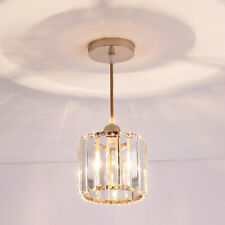7W LED Pendant Light Chandeliers Lamp Crystal Lampshade Ceiling Fixture E27 Bulb