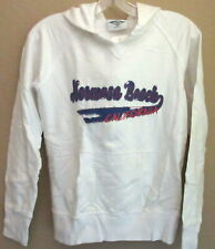 Hermosa Beach Hooded Sweat Shirt Ladies Large 100% Cotton White