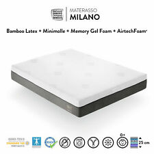 MATERASSO MEMORY FOAM GEL LATTICE MINI MOLLE  FRANCESE  H 25 cm  140x190 140x200