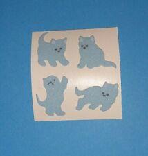 🦁💜Sandylion ein Abriss Katzen blau Fuzzy Stoff Scrapbooking Sticker 90er💜🦁