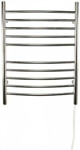 Electric Towel Warmer 24 in. W x 32 in. H 10-Bar in Brushed Stainless Steel