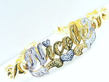 PERSONALIZED HEART NAME BRACELET HUGS AND KISSES XOXO