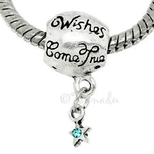 Wish Upon A Star European Bead For European Charm Bracelet - Wishes Come True