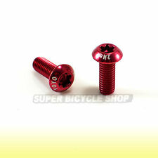 Water Bottle Cage Bolts Screws,M5X15mm, Red, 2Pcs
