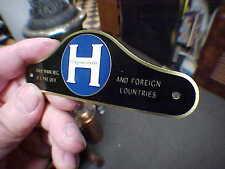 Hupp Motors Hupmobile Body Name & Data Plate 1920s -1930s