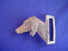 Saluki Belt Buckle #15W Arabian Hound Pewter Dog Jewelry by Cindy A. Conter