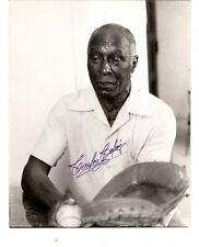 Original Baseball Signed Photo Cuban & Negro League star catcher CARLOS COLAS