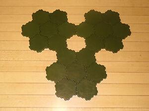 Heroscape Terrain - 21 x 1-Hex Green Swamp Water Tiles - Expand Your Battlefield