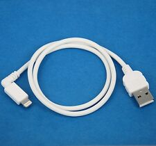 50cm 0.5m Right Angle Data Charger USB Cable WHITE for iPhone 7 6s 6 Plus SE 5s