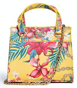 NEW GUESS Taylor Womens Handbag Satchel Crossbody Shoulder Bag Floral Small