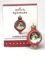 Hallmark Keepsake 2015 A World Within Tree Ornament