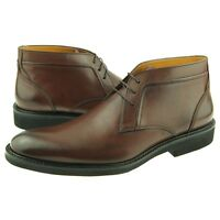 Charles Stone Leather Chukka, Men's Lace-up Ankle Boots, Brown 7-13US
