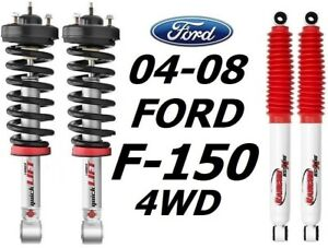 "Rancho Quicklift Struts 2.5"" Lift + RS5000X Rear Shocks For 04-08 Ford F-150 4WD"