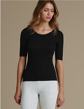Famous Make 2 Pack Thermal Short Sleeve Pointelle Vests. 4 Colours. Sizes 6-22.