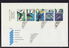 Finland 1991 FDC - Fishing - with booklet of 5 stamps