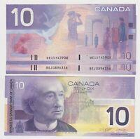 Canada $10 (2001/2002) BC-63b-i Knight/Dodge aUNC Banknotes ✹DB L74✹