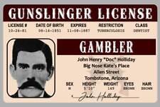 Doc Holliday Gunslinger Gambler Arizona Novelty Drivers License ID Card