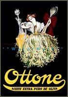 Ottone 1927 Olive Oil Argentina Salad Dress Vintage Poster Print Retro Style