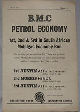 1957 BMC Petrol Economy Original advert