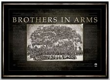 AUSTRALIAN ANZAC WAR PRINT FRAMED- BROTHERS IN ARMS WW1 LIMITED EDITION PRINT