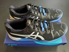 Men's Asics Gel Resolution 8 2E Wide Tennis Shoe Black/White Size 11.5
