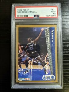 1992 Fleer Shaquille O'Neal #401 Rookie Card PSA 7.5 NM+ Magic RC
