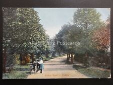 Surrey PURLEY Warren Road Shows FORECAR MOTORCYCLE TRICYCLE c1905 Old Postcard
