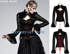 New PUNK RAVE Gothic Victorian Black&Red Lace Top Jacket Y-562 AUSTRALIAN STOCK