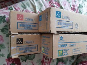 Toner Konica Minolta Bizhub C368, C308, C258 TN324 4er Set, alle Farben+Schwarz