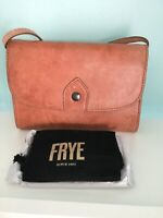 Frye Melissa Leather Wallet Crossbody Clutch Bag - Dusty Rose