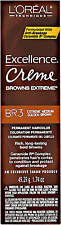 NEW L'Oreal Excellence Creme Browns Extreme 1.74 oz MEDIUM GOLDEN BROWN DYE BR3