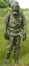 RUBBER HAZMAT SUIT GERMAN PLUS  M65 Z  GAS MASK  FILTER FP-5 SEALED