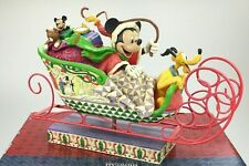 JIM SHORE LAUGHING ALL THE WAY SLEIGH MICKEY & PLUTO DISNEY TRADITIONS ENESCO