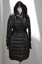S MAX MARA CUBO CUBE CHARCOAL PUFFER DOWN JACKET US 12 IT46 CRYSTAL ACCESSORIES