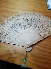 New listing 1Pc Natural Wood Hand Chinese Wooden Fans Vintage Wedding Party Favors Bulk