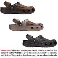 Crocs Yukon Vista  Roomy Fit Clog Shoes Sandals in Espresso Khaki & Black 205177