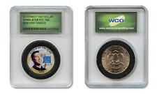 DEREK JETER '96 MLB Rookie Award Colorized JFK Half Dollar Coin Slabbed Holder