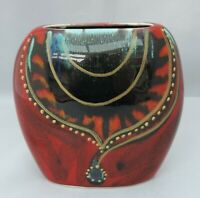 Small Anita Harris Purse Vase - necklace design - stamped ahs to base