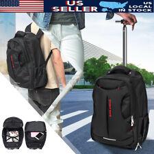 US 18'' Trolley Wheeled Backpack Travel Luggage Suitcase Handbag Laptop