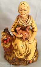 Vintage Taiyoshoko Sample Porcelain Japan Old Woman Figurine Squirrel Apple