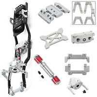 For 1/10 AXIAL SCX10 II 90046 313mm Wheelbase Chassis Frame Prefixal Gearbox MV