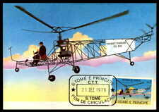 S.TOME MK 1979 LUFTFAHRT AVIATION HUBSCHRAUBER HELICOPTER MAXIMUMKARTE MC /m842