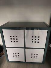 Ikea Kallax storage - Grey with white cubes