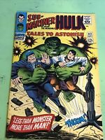 Tales to Astonish #83 (F/VF) 7.0 Marvel Silver Age Incredible Hulk & Sub-Mariner
