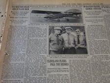 1929 JULY 6 NEW YORK TIMES - MITCHELL AND NEWCOMB PASS THE RECORD - NT 6637