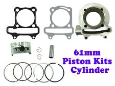 172cc HIGH PERFORMANCE CYLINDER KIT FOR GY6 MOTORS (61mm Bore)