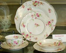 Haviland Limoges Dorset 36 pce Dinnerware Set service for 6. 1940s pink roses
