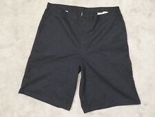 Used/Nice DICKIES Cell Pocket SHORTS Mens 42 Black Baggy Twill Casual Work Wear
