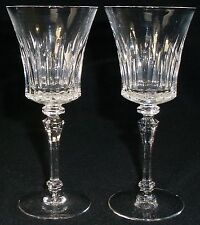 "TIFFIN crystal MELISSA 17687 pattern WINE GOBLET or GLASS 6-3/4"" SET of TWO (2)"